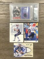 (4) Tom Brady Card Lot 2004 Fleer BGS 9 Jersey SP Jersey /100 2002 Upper Deck