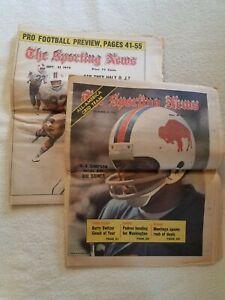 Vintage TSN The Sporting News O. J. Simpson Cover Lot Of 2 12/22/1973 9/21/1974