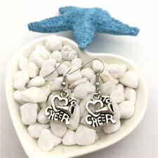 Cheerleader Earrings Tibet silver Charms Earrings Charm Earrings for Her