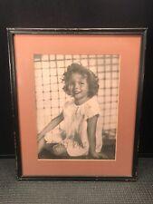 VINTAGE SHIRLEY TEMPLE CELEBRITY PRINT  1930s IN VINTAGE FRAME  14 3/4'' X  12''