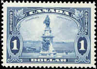 Mint H Canada $1.00 F-VF 1935 Scott #227 King George V Pictorial Stamp