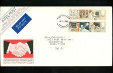Postal History Great Britain FDC Scott #1000-1001 Information Technology 1982