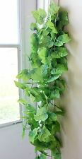 "Artificial 4 x 90"" Grape Leaf Vine Thick Leaf Hanging Garland Home Garden Decor"