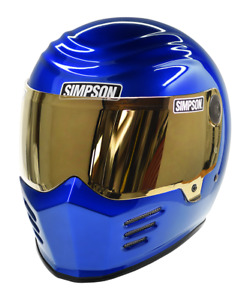 Simpson Outlaw 2 Helmet Snell M2015 Metalic Rayleigh Blue Xs-Xxl Uk