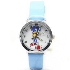 Sonic The Hedgehog Retro Game Analog Leather Quartz Stainless Steel Wrist Watch