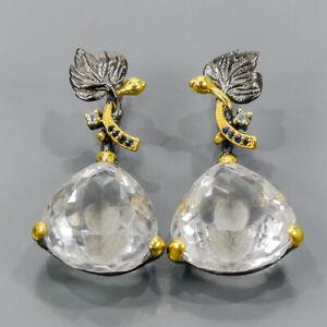 One of a kind SET Quartz Earrings Silver 925 Sterling   /E57468