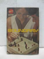 Very Rare Vintage Boundary Strategy Board Game 1970 From Mattel 2 Player   gm381