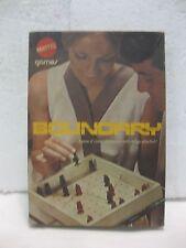 Muy Raro Vintage Boundary Juego de Mesa Estrategia 1970 Mattel 2 Jugadores gm381