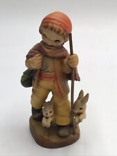 "Anri Ferrandiz Figure ""Long Journey� Boy Walking w/ Rabbits"