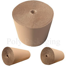 More details for 600mm wide corrugated cardboard paper rolls postal packaging wrapping parcels