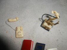 VINTAGE MINIATURE DOLLHOUSE TELEPHONES BOOKS ECT  1/12 SCALE  TOY