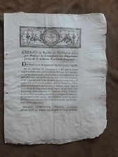 EXTRAIT Registre Délibérations Commissaires Province Languedoc.30 novembre 1790
