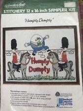 Vintage Humpty Dumpty Crewel Embroidery Kit
