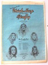 URIAH HEEP 1977 original POSTER ADVERT FIREFLY CONCERT TOUR