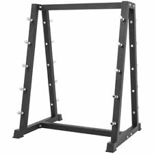 Gorilla Sports Fixed Rubber Barbell Rack