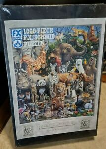 """F.C. Schmid Jigsaw puzzle 1000 Piece """"Family Reunion"""" Brand new and sealed!"""