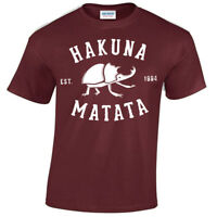 Hakuna Matata T-Shirt Lion Inspired Kind Movie Film Mens