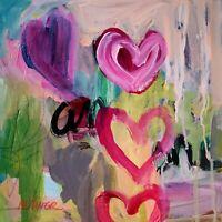 Mona Vivar original abstract love modern art painting 12x12
