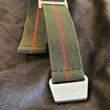 New No Pass, Diver Elastic Watch Strap Band Belt in 20mm - Army Green with Red