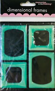 Memories in the Making Leisure Arts Dimensional Frames - Turquoise
