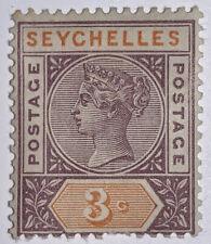 Travelstamps:  SEYCHELLES STAMPS SG#22, Mint, Og, Hinged, 3c