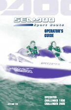 Sea-Doo Owners Manual Book 2001 SPEEDSTER, CHALLENGER 1800 & CHALLENGER 2000
