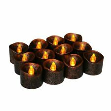 Yellow Flicker Battery Electric LED Candles PP Plastic Flameless Tea Light