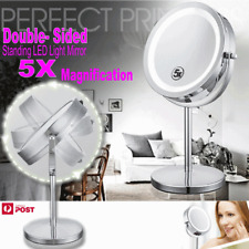 Double Side Makeup Cosmetic 5X Magnifying Stand Mirror with LED Lights Vanity