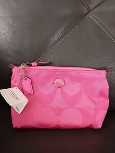 Coach Hot Pink Cosmetic Bag, New