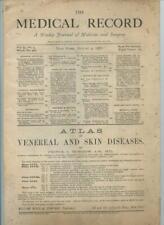 8/4 1888 New York Medical Record Journal Medicine Surgery Doctors Trade Magazine