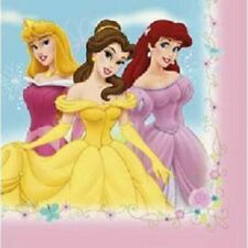 NEW Disney Princess Napkins Fairy Tale Friends Luncheon Birthday Party 16 Ct