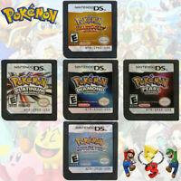 Nintendo DS - Pokemon Games; HeartGold SoulSilver Platinum Diamond Pearl US