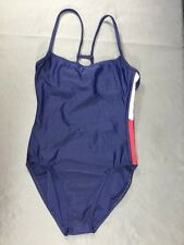 Tommy Hilfiger Flag One Piece Bathing Swim Suit Blue X-Small Size 0-2