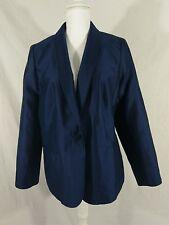 NWT Women's Talbots Navy Jacket Blazer Size 18 Career Work Silk Blend