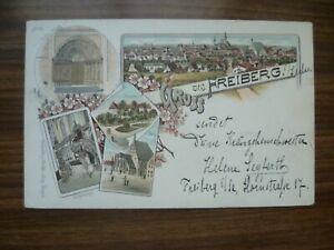 Gruss aus Freiberg Sachsen 1896
