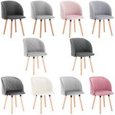 2x Esszimmerstuhl Küchenstühle Wohnzimmerstuhl Stuhl aus Leinen Samt Grau #1596