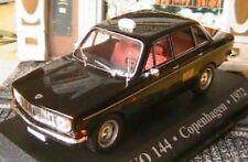 VOLVO 144 COPENHAGEN TAXI 1972 AUTOMATIC 1/43 DANEMARK IXO ALATAYA NOIR BLACK
