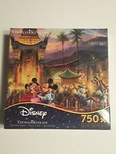 NEW DISNEY THOMAS KINKADE MICKEY AND MINNIE SWEETHEART BRIDGE 750 PIECE PUZZLE