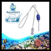 AQUARIUM SIPHON CLEANER PUMP FISH TANK POND MARINE REEF VACUUM GRAVEL SAND