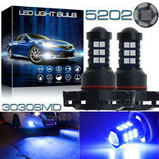 2X 5202 Fog Light Blue High Power H16 5201 LED Projector Daytime Running Light