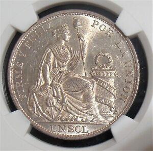 Peru: 1894-TF Silver Sol KM-196.26 NGC MS-63