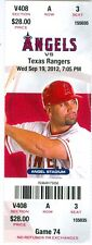2012 Angels vs Rangers ticket: Geovany Soto & Alberto Callaspo HRs/Derek Holland
