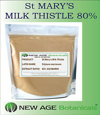 St MARY'S MILK THISTLE EXTRACT -  80% SILIMARIN  - 100G