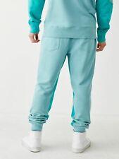 TRUE RELIGION Men's Mint Blue Colour Block Joggers Casual Trousers M RRP119 BNWT
