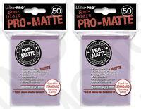100 2pk ULTRA PRO Pro-Matte Deck Protector Card Sleeves Magic Standard Lilac
