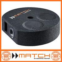 """Match PP 7S-D 6.5"""" 400 Watts Dual Voice Coil Car Sub Subwoofer x 2 Enclosure"""