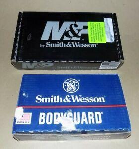 Set of 2 Smith & Wesson Gun Boxes - 380 Bodyguard & 45 Cal M&P Shield
