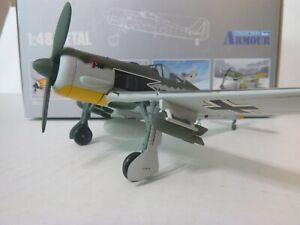 """Armour, FW 190A-4 Focke Wulf, Ace Siegfried Schnell, """"Wumm"""" 1:48, Diecast, Used"""
