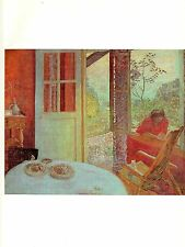 "1977 Vintage IMPRESSIONISM ""DINING ROOM IN THE COUNTRY"" BONNARD COLOR Lithograph"