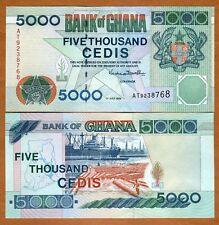 Ghana / Africa, 5000 Cedis, 1999. P-34 (34d), UNC